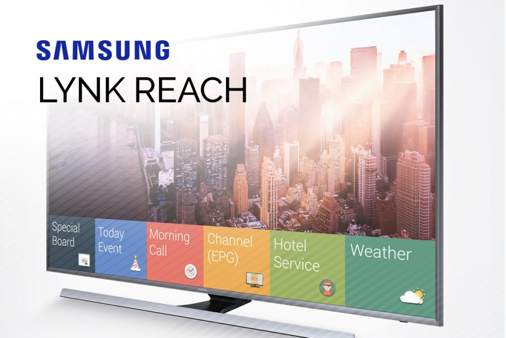 Samsung Lynk Reach 4.0 on UHD Samsung Hospitality Display